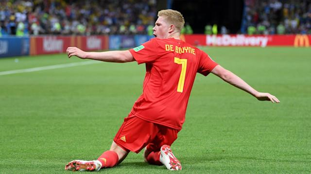 Kevin De Bruyne starred with a brace as Belgium dismantled Cyprus at the end of a ruthless, relentless qualifying campaign.