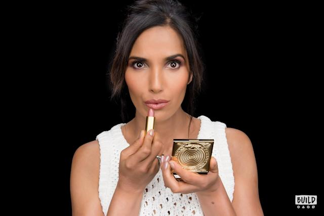 Padma Lakshmi at the Build Studio on March 12 to promote her new MAC Capsule Collection. (Photo: Mike Pont)