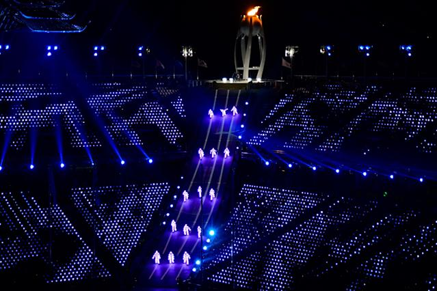 <p>Dancers perform during the closing ceremony of the Pyeongchang 2018 Winter Olympic Games at the Pyeongchang Stadium on February 25, 2018. / AFP PHOTO / JAVIER SORIANO </p>