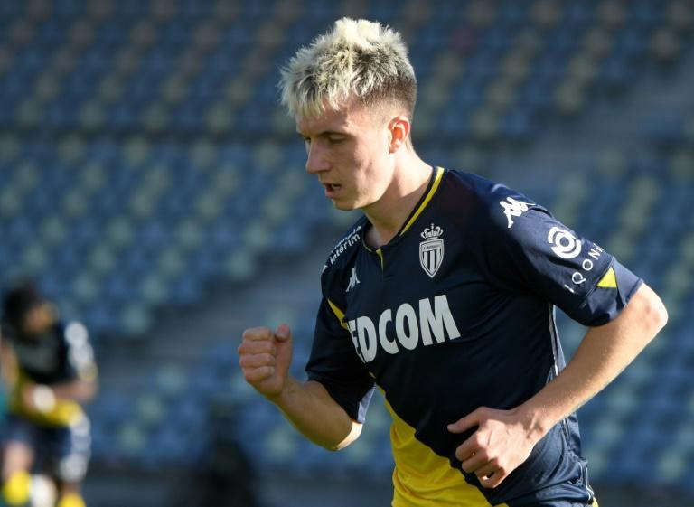 Aleksandr Golovin struck a hat-trick to keep Monaco on the heels of the top three in France