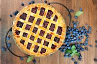 "<p>Maine's official state dessert is blueberry pie made with wild Maine blueberries. More than 98% of the nation's low bush blueberries are harvested in Maine, making the fruit one of the state's largest exports. Not only is blueberry pie delicious, but it's also a <a href=""https://www.thedailymeal.com/cook/easy-recipes-kid-dinner-dessert-crafts?referrer=yahoo&category=beauty_food&include_utm=1&utm_medium=referral&utm_source=yahoo&utm_campaign=feed"" rel=""nofollow noopener"" target=""_blank"" data-ylk=""slk:great recipe to make with your kids"" class=""link rapid-noclick-resp"">great recipe to make with your kids</a>. Along with flour, sugar and butter, add some lemon juice, cinnamon and nutmeg to your blueberry pie recipe to complement the fruit's flavor.</p>"