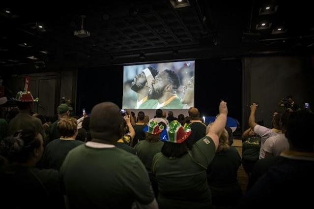 South African fans following the Springboks in Johannesburg (AFP Photo/Guillem Sartorio)