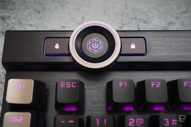 Corsair K100 control wheel