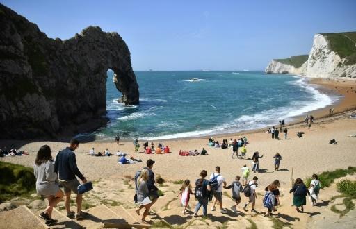 With many Britons looking to stay at home this year in the wake of the coronavirus media and travel firms have been talking up the merits of domestic destinations such as Durdle Door near West Lulworth on the south coast