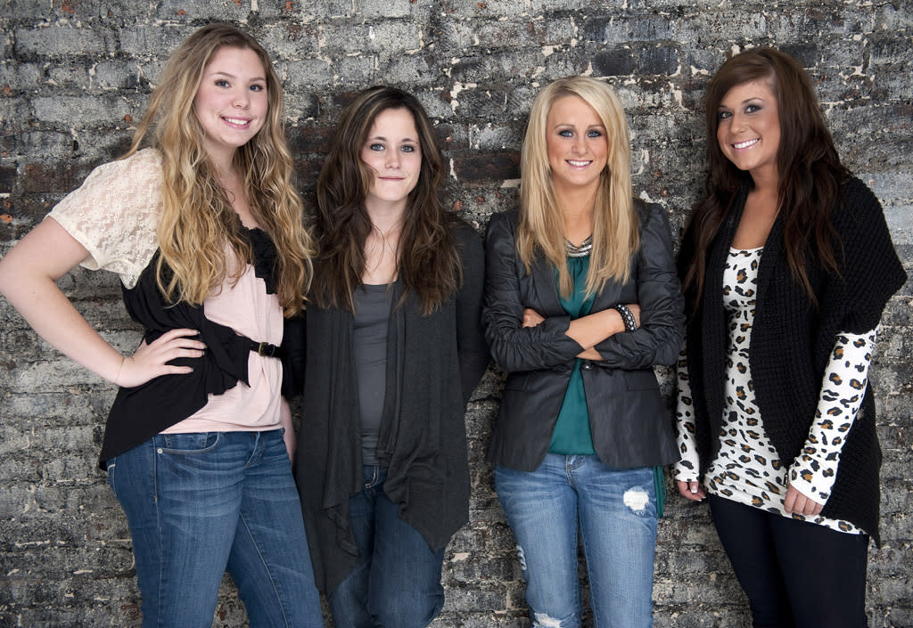 "Kailyn Lowry, Jenelle Evans, Leah Messer, and Chelsea Houska from Season 1 of ""Teen Mom 2.""<br><br>Tune in Tuesday, 8/28 for the series finale of ""Teen Mom"" at 10 PM on MTV."