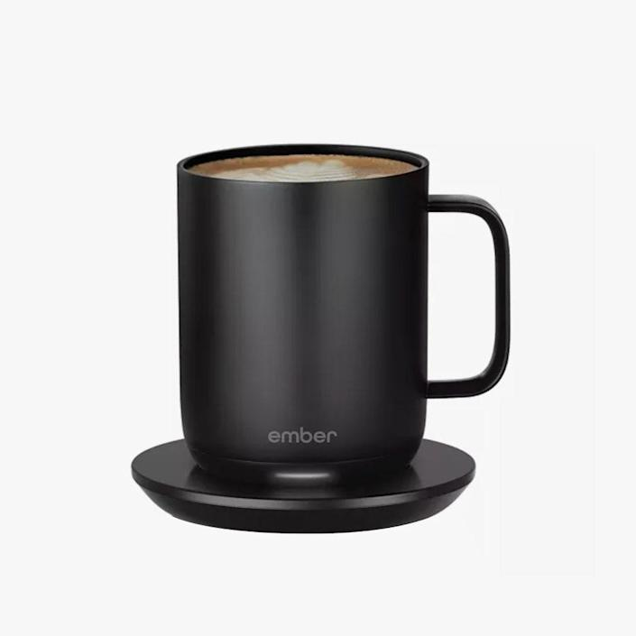 """$100, BLOOMINGDALES. <a href=""""https://www.bloomingdales.com/shop/product/ember-gen-2-mug-10-oz.?ID=3479664&CategoryID=1004777#fn=ppp%3Dundefined%26sp%3DNULL%26rId%3DNULL%26spc%3D338%26spp%3D14%26pn%3D2%7C4%7C14%7C346%26rsid%3Dundefined%26smp%3DmatchNone"""" rel=""""nofollow noopener"""" target=""""_blank"""" data-ylk=""""slk:Buy Now"""" class=""""link rapid-noclick-resp"""">Buy Now</a><br>"""