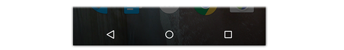 Android Lollipop Back, Home, and App Switcher buttons