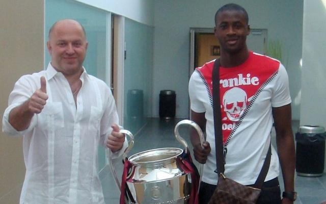 Toure with his agent Dimitri Seluk during his Barcelona yearsCredit: News Scan