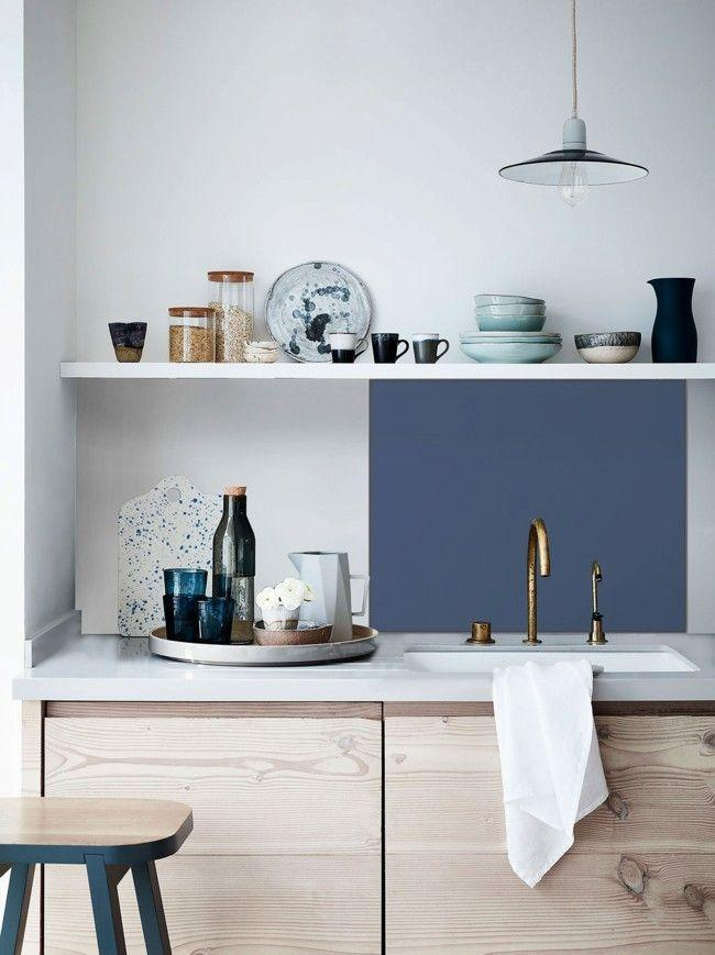 """<p>An easy way to break up great swathes of white walls and counters, splashbacks can be as intricate or plain as you choose. Go bold with patterned tiles, add a touch of luxury with brass metallics, or keep it simple with this peel, stick and seal peacock blue version. </p><p>Pictured: <a href=""""https://www.splashback.co.uk/shop/country-living/country-living-peacock-blue-selfadhesive-matt-glass-splashback/43.htm"""" rel=""""nofollow noopener"""" target=""""_blank"""" data-ylk=""""slk:Country Living Peacock Blue Matt Splashback"""" class=""""link rapid-noclick-resp"""">Country Living Peacock Blue Matt Splashback</a></p>"""