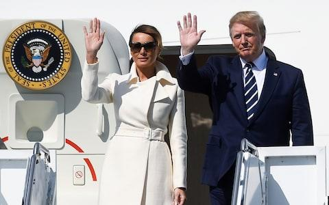 <span>The first picture of the First Couple</span> <span>Credit: REUTERS/Clodagh Kilcoyne </span>