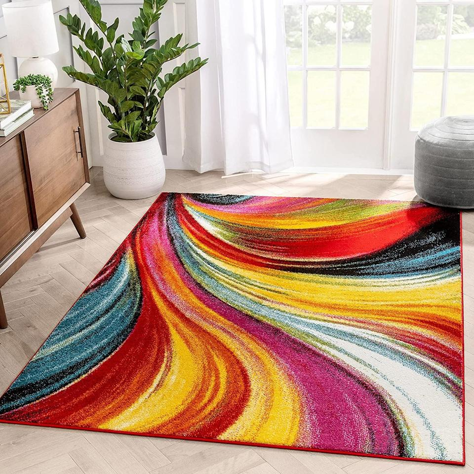 well woven colorful area rug