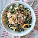 """<p>Proof that quinoa salads are anything but boring: This recipe loaded with sweet roasted squash, kale, and feta is a total flavor bomb.</p><p>Get the recipe from <a href=""""https://www.delish.com/cooking/recipe-ideas/recipes/a44963/quinoa-salad-with-roasted-squash-dried-cranberries-and-pecans-recipe/"""" rel=""""nofollow noopener"""" target=""""_blank"""" data-ylk=""""slk:Delish"""" class=""""link rapid-noclick-resp"""">Delish</a>.</p>"""