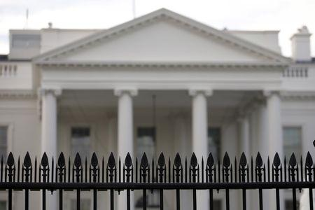 Security fencing is seen at the White House in Washington