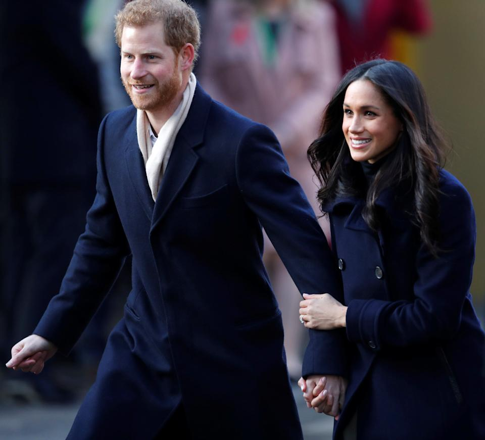 Prince Harry and his then-fiancee Meghan Markle arrive at an event in Nottingham on Dec. 1, 2017. (Photo: Eddie Keogh / Reuters)