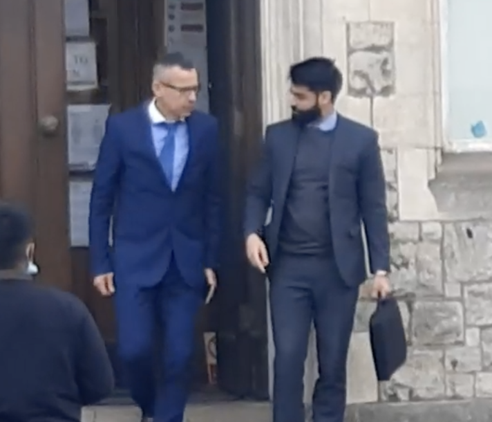 Smail Afafsa, 54, (left) leaving court.