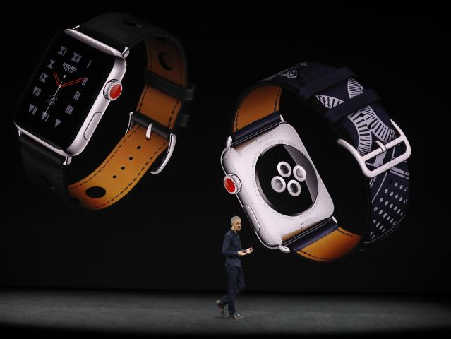 <p>Hermes bands are available for the Apple Watch. REUTERS/Stephen Lam </p>