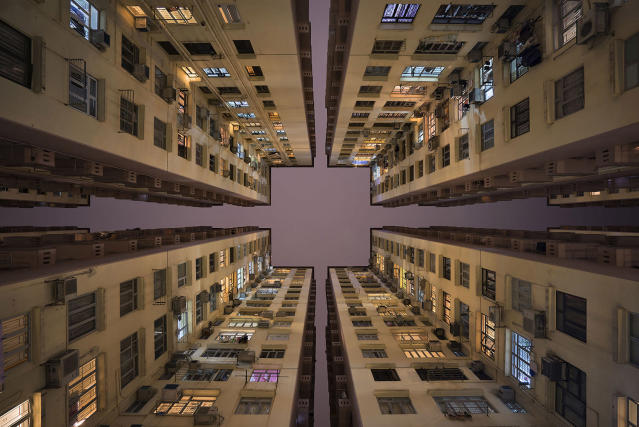 "<p>""Through the medium of photography, I wanted to find an original 'angle' that would open up a fresh perspective on what I found most captivating about Hong Kong – its sheer density and 'vertical sprawl'. (Photo: Romain Jacquet-Lagreze/Caters News) </p>"