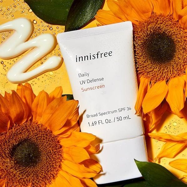 <p>This <span>Innisfree Daily UV Defense Sunscreen SPF 36</span> ($15) is a great, affordable pick.</p>