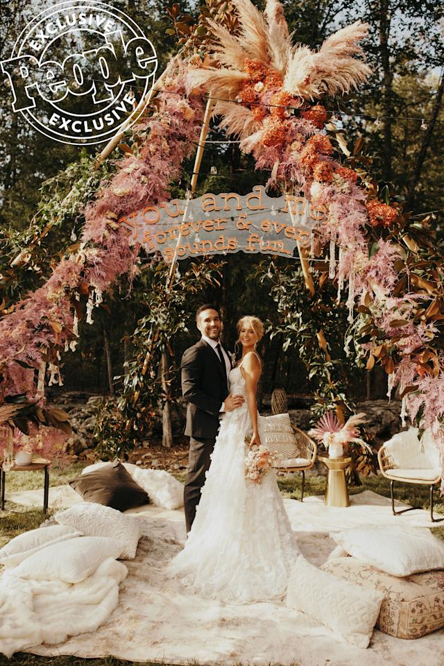 """When Rich and Gadecki sat down with Sara Fried of <a href=""""https://www.fetenashville.com/"""">Fête Nashville Luxury Weddings</a>to plan their dream celebration, the couple of more than three years decided to pay tribute to where it all started.  """"We met at the Stagecoach Festival and spend so much of our time on the road at shows,"""" they told PEOPLE. """"So we wanted to throw a festival-themed wedding so our guests could take a step into our lives for a night."""""""