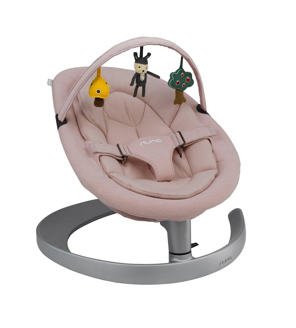 <p>The <span>Nuna Leaf Grow</span> ($290) is motor- and noise-free and a great place for baby to relax.</p>