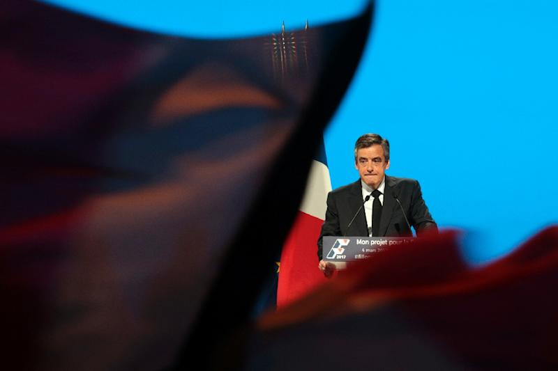 The French presidential race has seen former rightwing frontrunner Francois Fillon ensnared in a fake job scandal involving his wife (AFP Photo/Geoffroy VAN DER HASSELT)