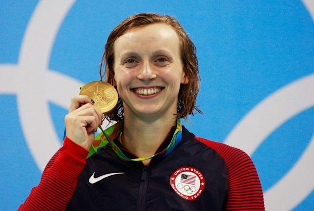 "<a class=""link rapid-noclick-resp"" href=""/olympics/rio-2016/a/1119883/"" data-ylk=""slk:Katie Ledecky"">Katie Ledecky</a> won her second gold medal at the Rio Games on Tuesday. (AP)"