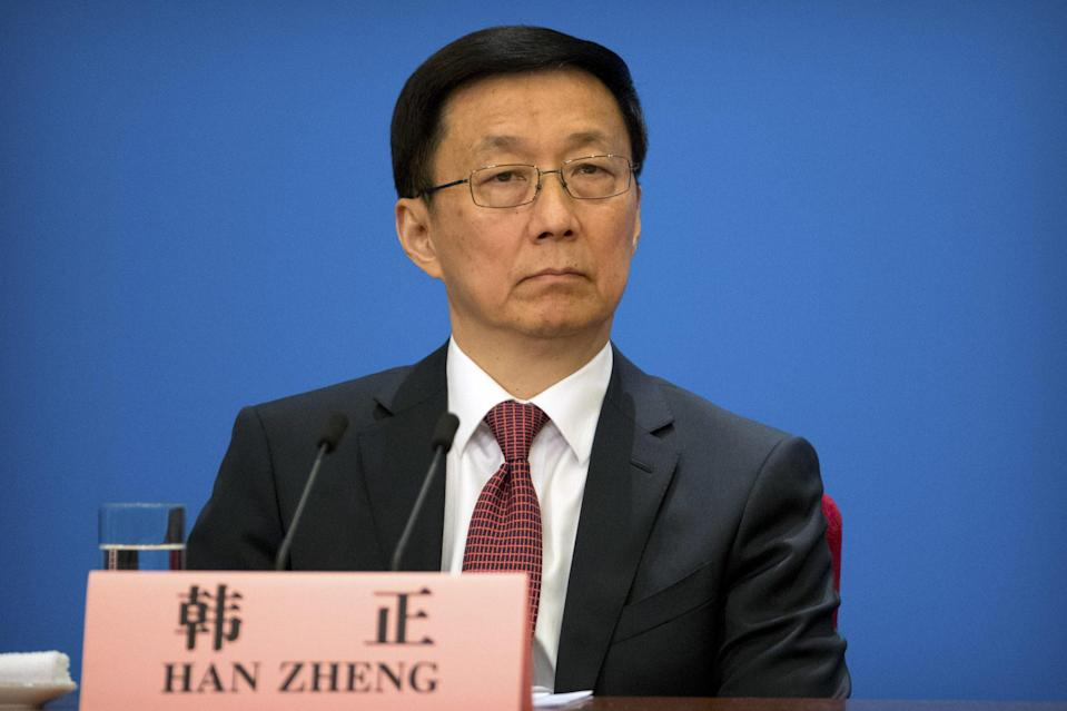 Chinese Vice-Premier Han Zheng. Photo: AP