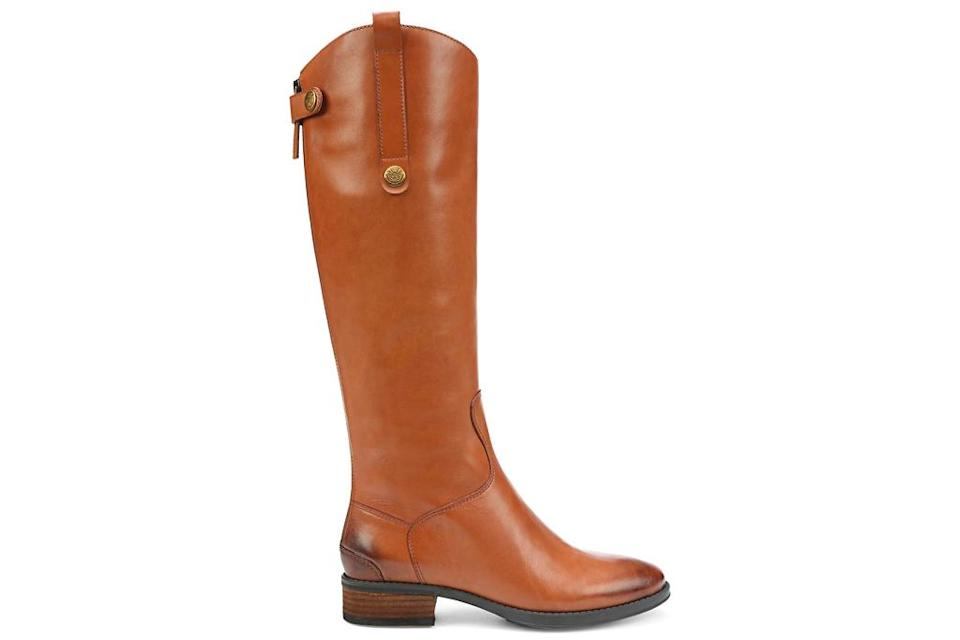 riding boots, tan, brown, leather, sam edelman