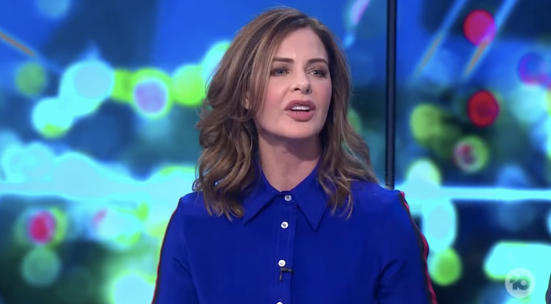 Trinny Woodall spelled out the C-bomb during her appearance on The Project. Photo: Network 10
