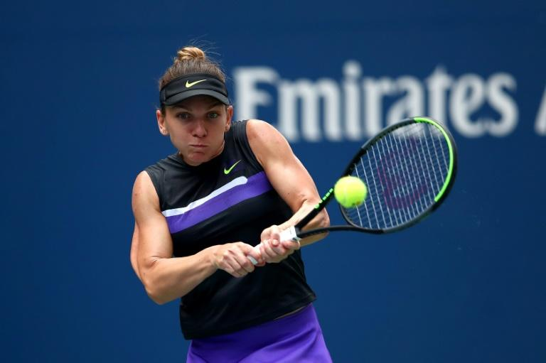 Simona Halep avoided a third successive US Open first round loss
