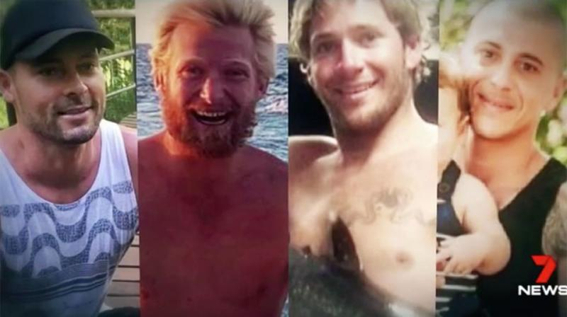The bodies of 39-year-old Eli Tonks, 34-year-old Chris Sammut, 33-year-old Adam Bidner and 28-year-old Zach Feeney have not yet been recovered. Source: 7 News