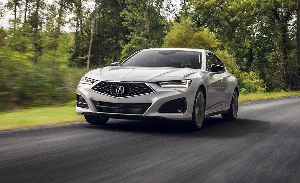 """<p>The 2021 <a href=""""http://caranddriver.com/acura/tlx"""" rel=""""nofollow noopener"""" target=""""_blank"""" data-ylk=""""slk:Acura TLX"""" class=""""link rapid-noclick-resp"""">Acura TLX</a> is fully redesigned, and, unlike the previous generation, finds itself among 20 other cars as an IIHS Top Safety Pick+. <a href=""""https://www.iihs.org/ratings/vehicle/acura/rdx-4-door-suv/2021"""" rel=""""nofollow noopener"""" target=""""_blank"""" data-ylk=""""slk:The IIHS safety results"""" class=""""link rapid-noclick-resp"""">The IIHS safety results</a> showed Good and Superior marks throughout each test. Every TLX comes standard with LED low- and high-beam projector headlamps, and IIHS testing showed that the low beam pattern was never too bright for oncoming traffic, and the high-beam assist helped boost output while driving. The TLX comes standard with driver-assistant technology, such as forward-collision warning and automated emergency braking, lane-departure warning and lane-keeping assist, blind-spot monitor, and rear cross-traffic alert. The TLX also features traffic sign recognition and an awareness monitor that will alert you if it senses you driving distracted. </p><p><a class=""""link rapid-noclick-resp"""" href=""""https://www.caranddriver.com/reviews/a34126269/2021-acura-tlx-by-the-numbers/"""" rel=""""nofollow noopener"""" target=""""_blank"""" data-ylk=""""slk:TLX TESTED"""">TLX TESTED</a> 
