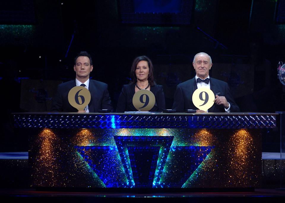 Judges, (left-right) Craig Revel Hallwood, Arlene Phillips and Len Goodman during the final dress rehearsal for the first ever tour of Strictly Come Dancing Live! at the SECC in Finnieston, Glasgow.   (Photo by Michael Boyd - PA Images/PA Images via Getty Images)