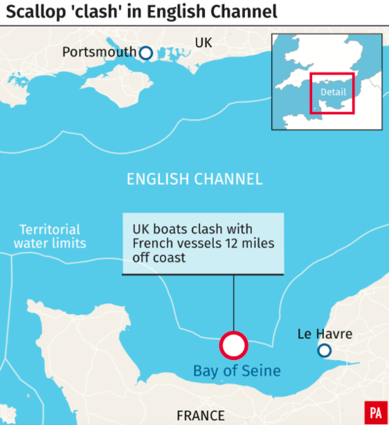 <em>The clash between the boats took place in the English Channel, close to France (PA)</em>