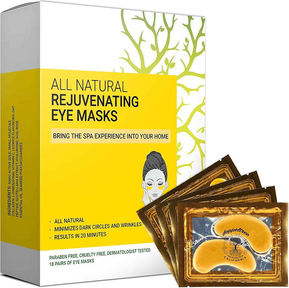 Doppeltree Store Under Eye Collagen Masks (Photo via Amazon)
