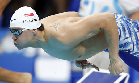 Joseph Schooling of Singapore.  REUTERS/Stefan Wermuth