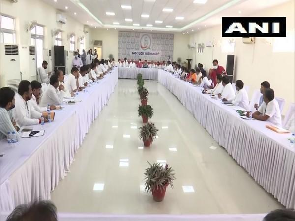 Congress election panel meeting in Lucknow (Photo/ANI)