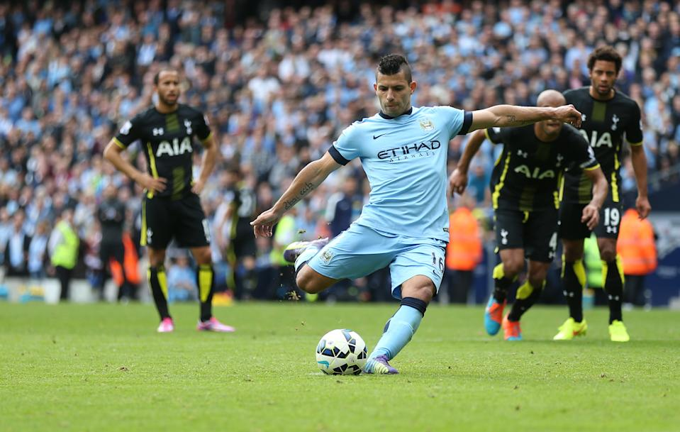 In the first of the Ordem series Sergio Aguero snatched the top goalscorer as Chelsea were back to winning was in the league. (Photo by Sharon Latham/Manchester City FC via Getty Images)