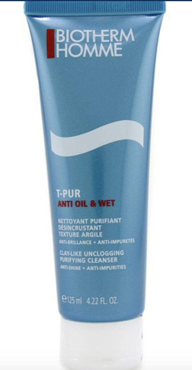 PHOTO: Zalora. BIOTHERM Homme T-Pur Clay-Like Unclogging Purifying Cleanser 125ml