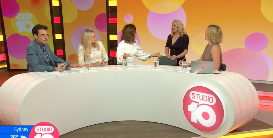 Kerri-Anne Kennerley on Studio 10 panel with rest of hosts