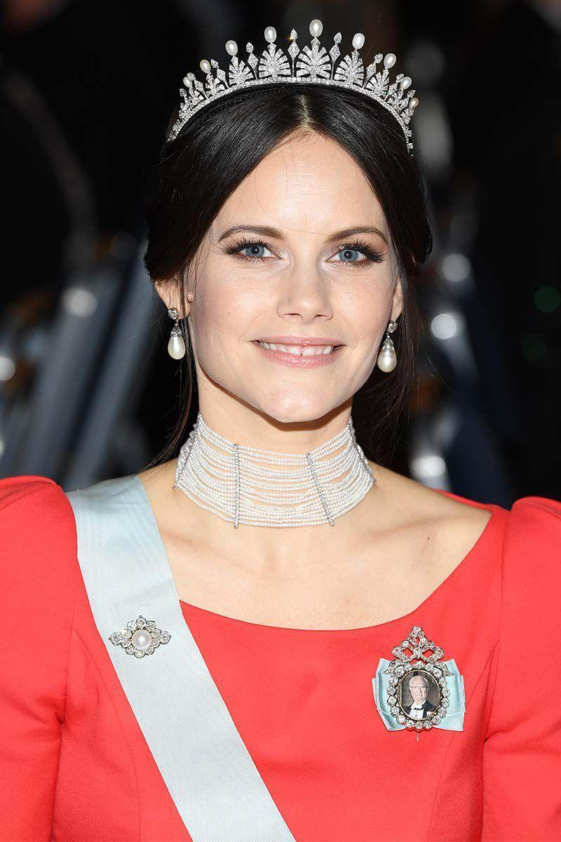 <p>For the Nobel Prize Banquet in Stockholm, Princess Sofia of Sweden wore a loose updo with small, face framing tendrils.</p>