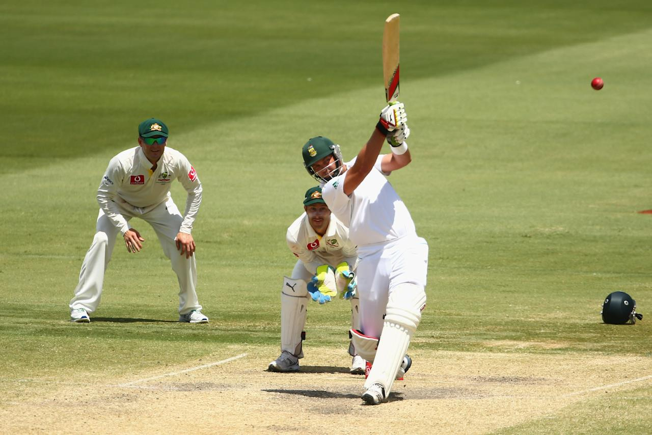 ADELAIDE, AUSTRALIA - NOVEMBER 26: Jacques Kallis of South Africa bats during day five of the Second Test Match between Australia and South Africa at Adelaide Oval on November 26, 2012 in Adelaide, Australia.  (Photo by Mark Kolbe/Getty Images)