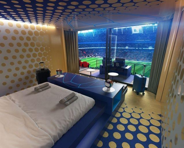 A suite with a view on the turf in Wembley for the final of the Euro 2020