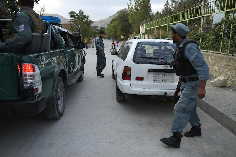 Afghan police in Kabul conduct a special mobile patrol in 2016, with crime worsening in the capital city over recent years