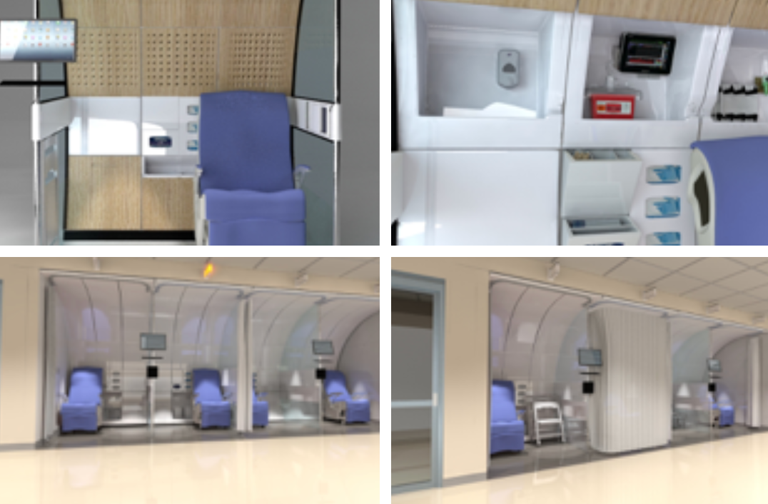 First class airline-style pods in A&E departments, gardens between wards and starfish-shaped hubs are among the innovative proposals which could help inform the design of new hospitals.