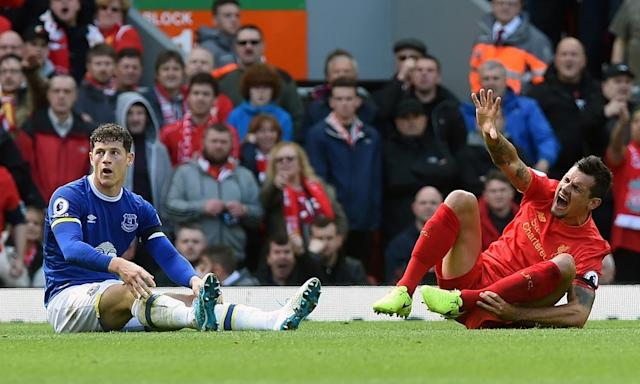 """<span class=""""element-image__caption"""">'If you don't have injuries, you will be in the place of Chelsea,' said Dejan Lovren. 'Chelsea have not had one injury I do not think. Sometimes you need to be lucky in football.'</span> <span class=""""element-image__credit"""">Photograph: John Powell/Liverpool FC via Getty Images</span>"""