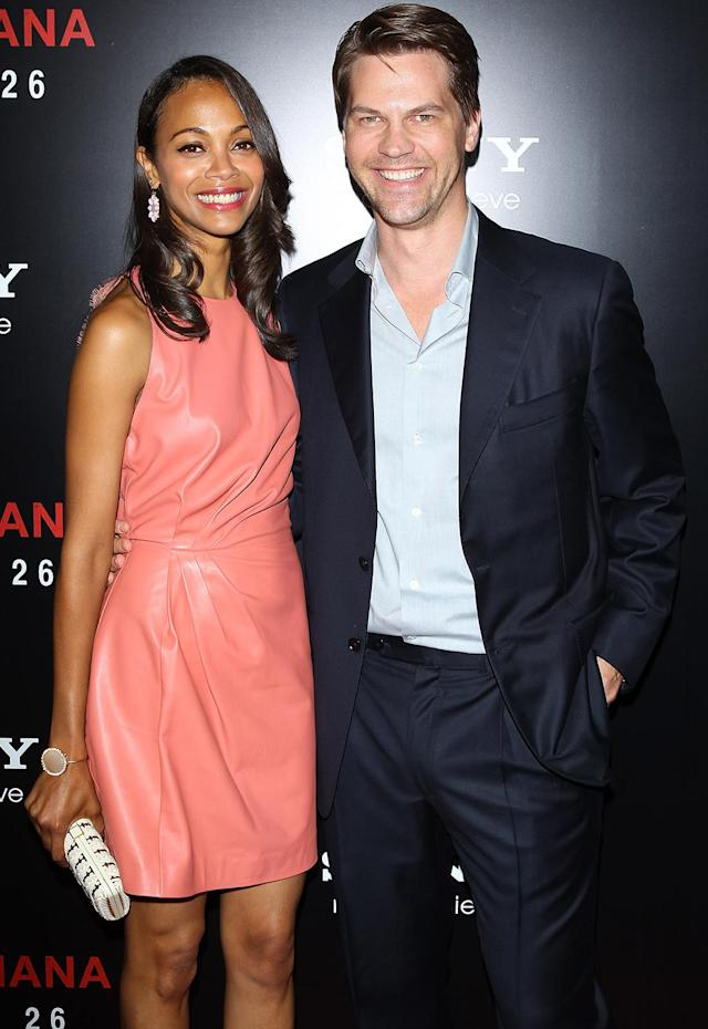 <p><em><em>Saldana brought then-fiancé Keith Britton to the<em> Colombiana</em> premiere on Aug, 24, 2011. After 11 years of dating, the duo called it quits just four months later. (Photo: Michael Tran/FilmMagic) </em></em></p>