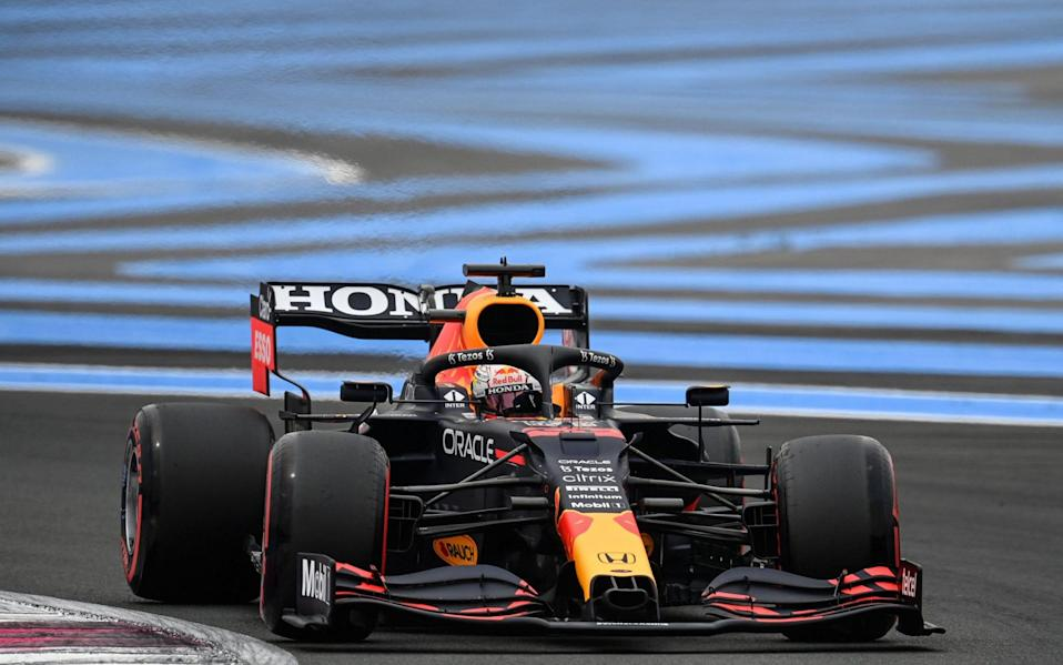 Red Bull's Dutch driver Max Verstappen drives during the third practice session at the Circuit Paul-Ricard in Le Castellet, southern France, on June 19, 2021, ahead of the French Formula One Grand Prix - CHRISTOPHE SIMON/AFP via Getty Images