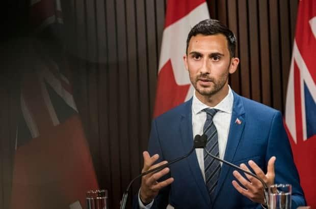 Ontario Education Minister Stephen Lecce announced new funding and curriculum aimed at 'strengthening mandatory Indigenous learning.'  (Christopher Katsarov/The Canadian Press - image credit)