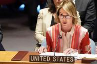 U.S. Ambassador to UN Craft attends Security Council meeting about situation in Syria in New York City